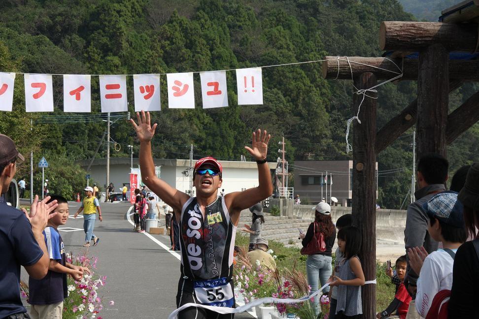 2011・10 上浦トライアスロン大会 ゴールイン