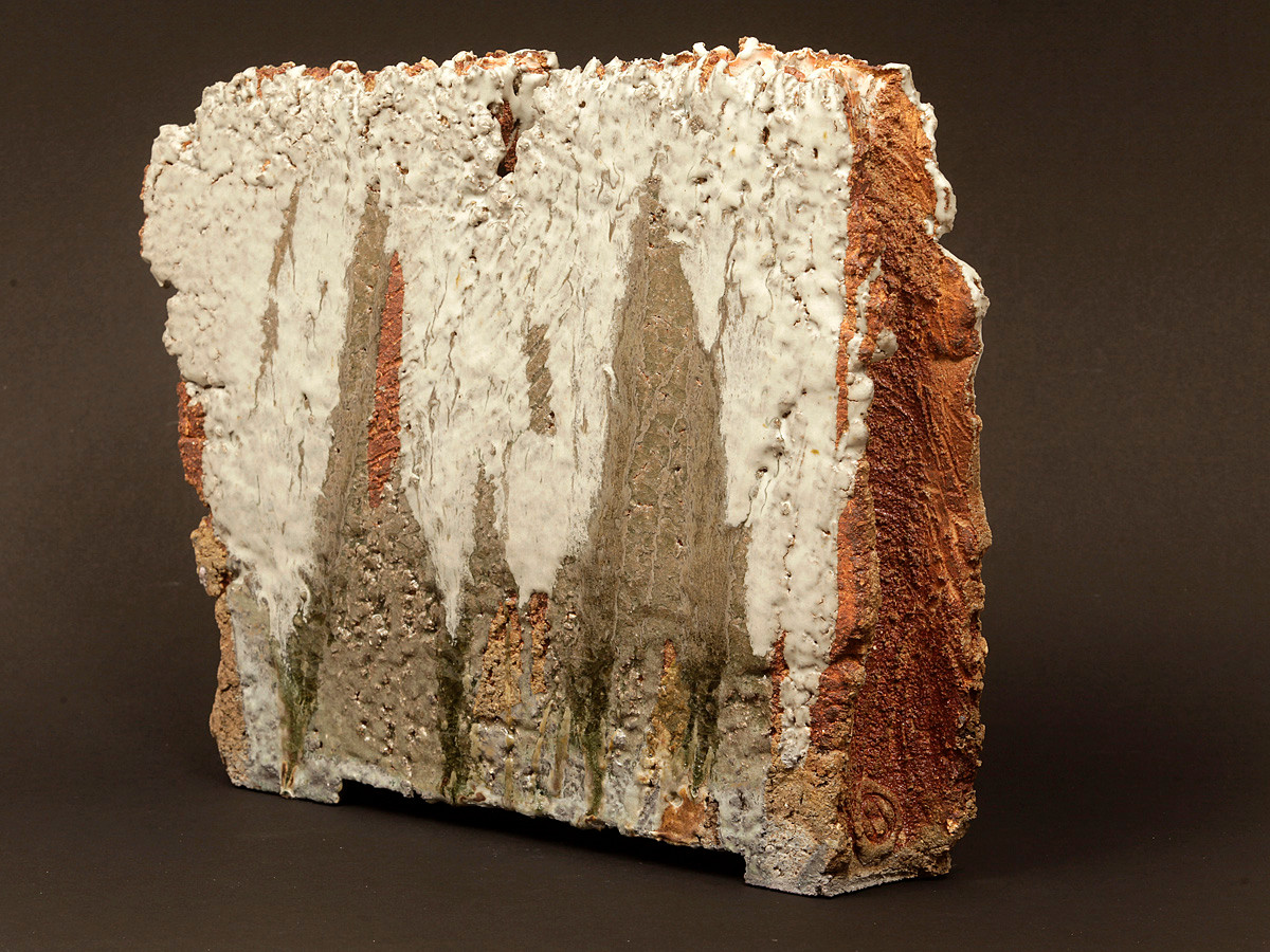 Falaise blanche - 40 x 35 cm