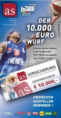 Basketball Promotion inkl Gewinnspielversicherung
