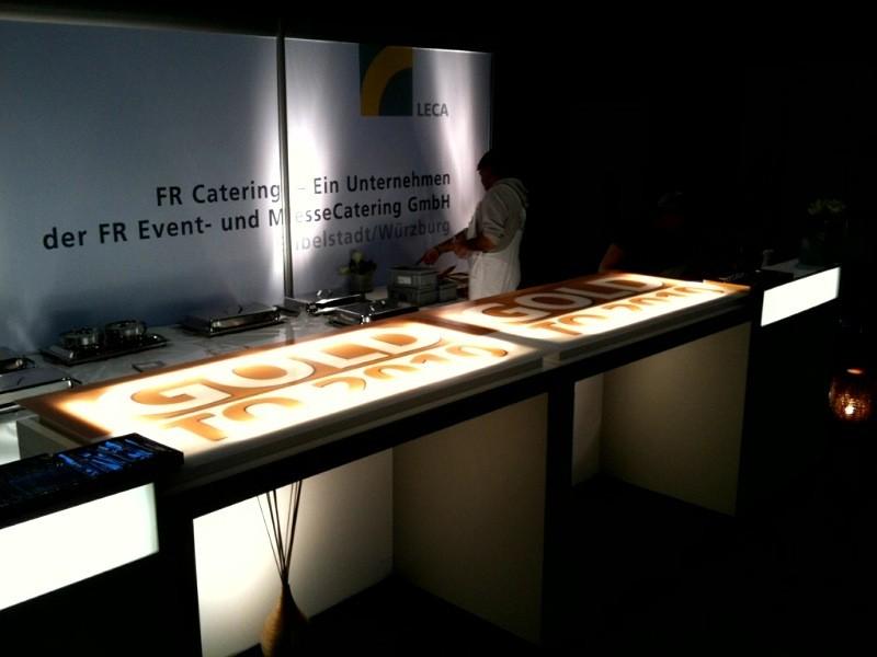 FR Catering, Leuchtwerbung (Messe-Präsentation)