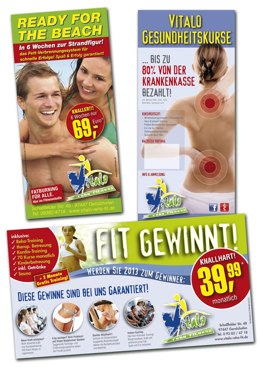 Vitalo Reha Fit - Grafische Gestaltung u. Herstellung von Werbemitteln/Anzeigen