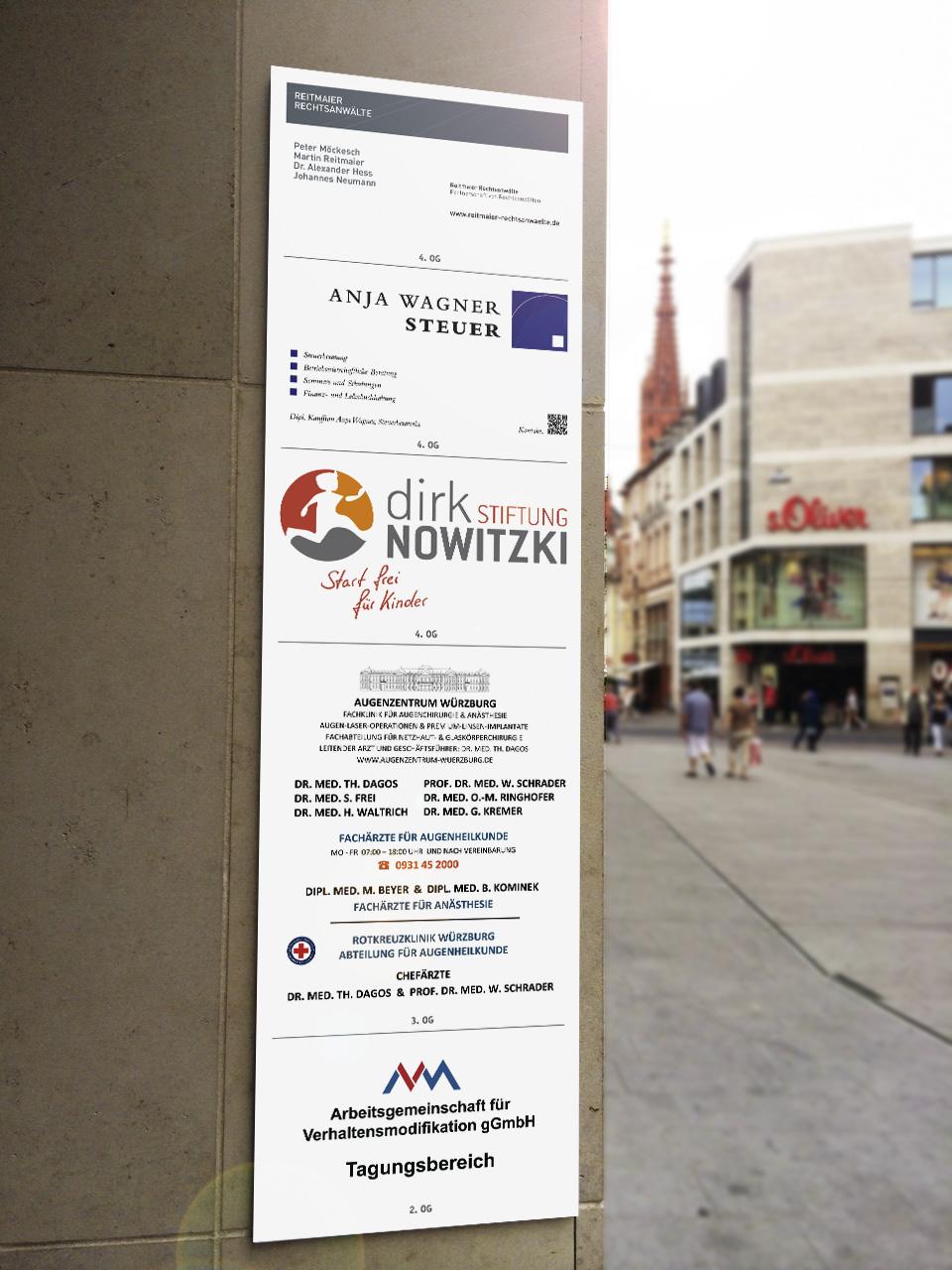 Aluverbund-Werbeschilder