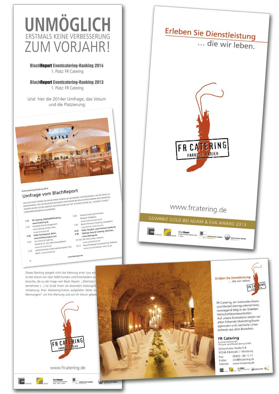 FR Catering - Anzeigensatz
