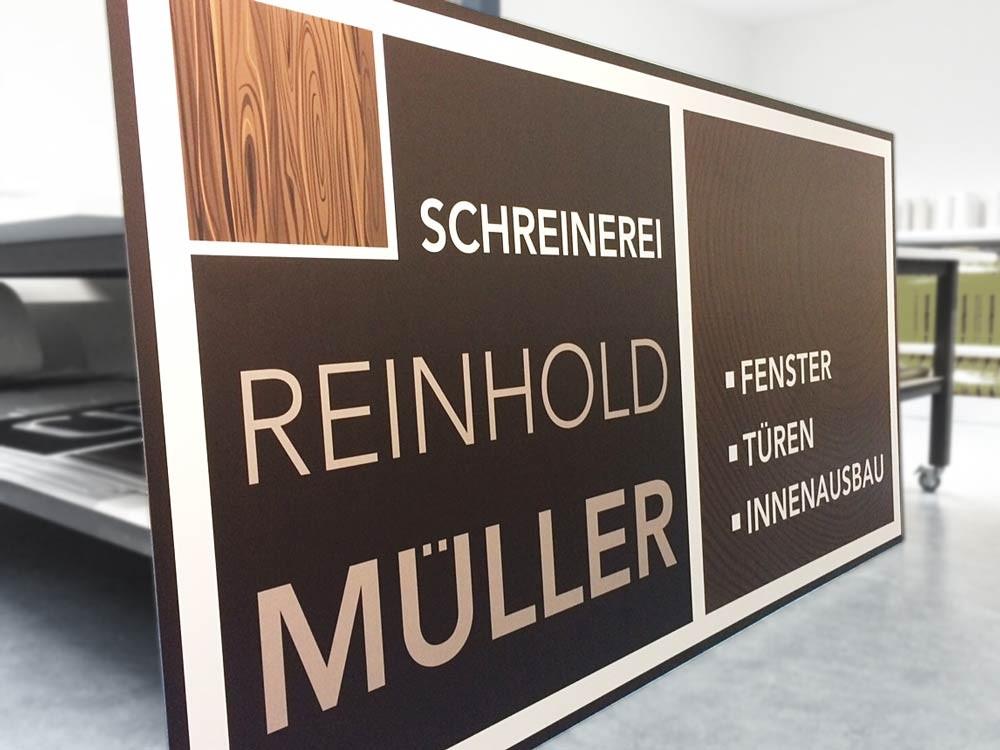 Aluverbund-Firmenschild / Metallschild, Werbetechnik