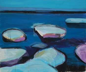 Eisschollen, 2015 Acryl auf Leinwand 100 cm x 120 cm