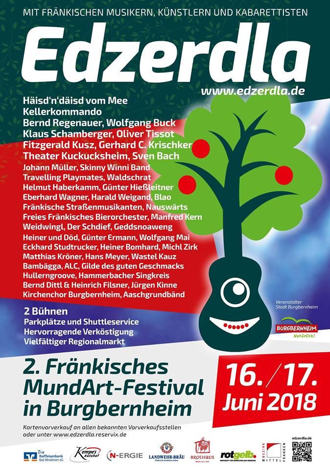 ... das offizielle Plakat der Stadt Burgbernheim mit den auftretenden Künstlern!