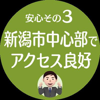 安心3:新潟市中心部でアクセス良好(新潟市就業規則作成センター)
