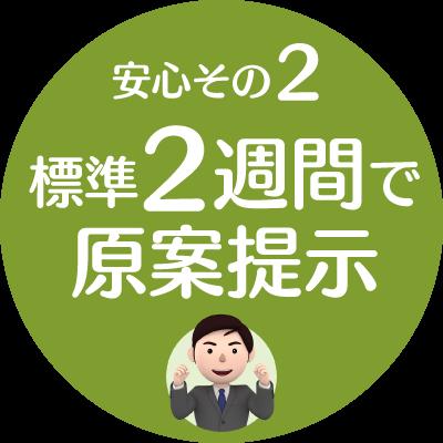 安心2.標準2週間で原案提示【新潟市就業規則作成センター】