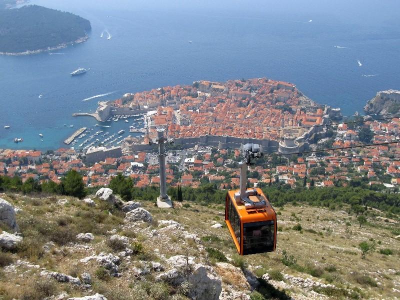 Blick vom Berg Srđ auf Dubrovnik