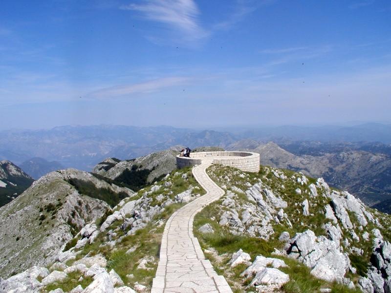 Aussichtsplattform am Jezerski Vrh, Lovćen-Gebirge