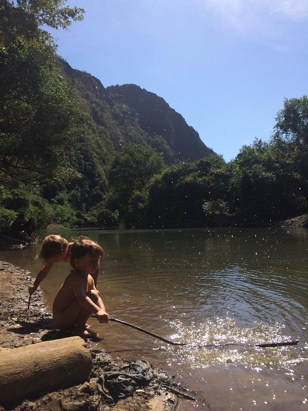 Unsere Dschungelkinder beim Tha fa lang See