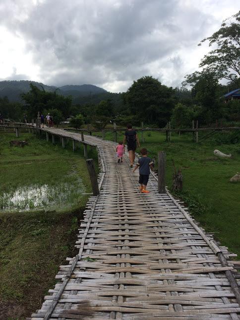 Bamboo-Brücke