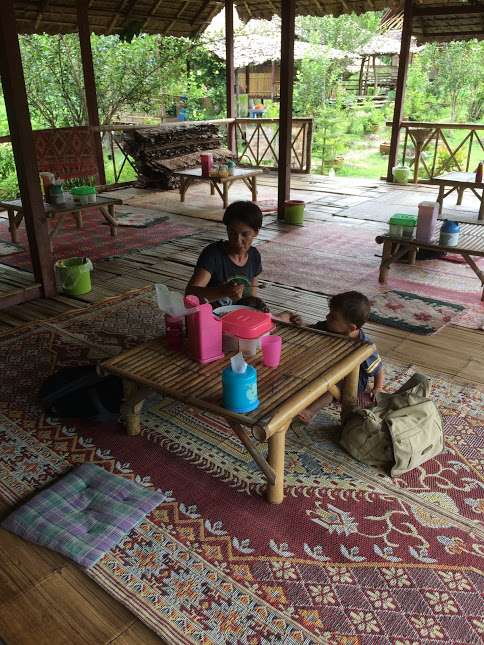 Restaurant an der Boon Ko Ku So Brücke - Bamboo-Brücke