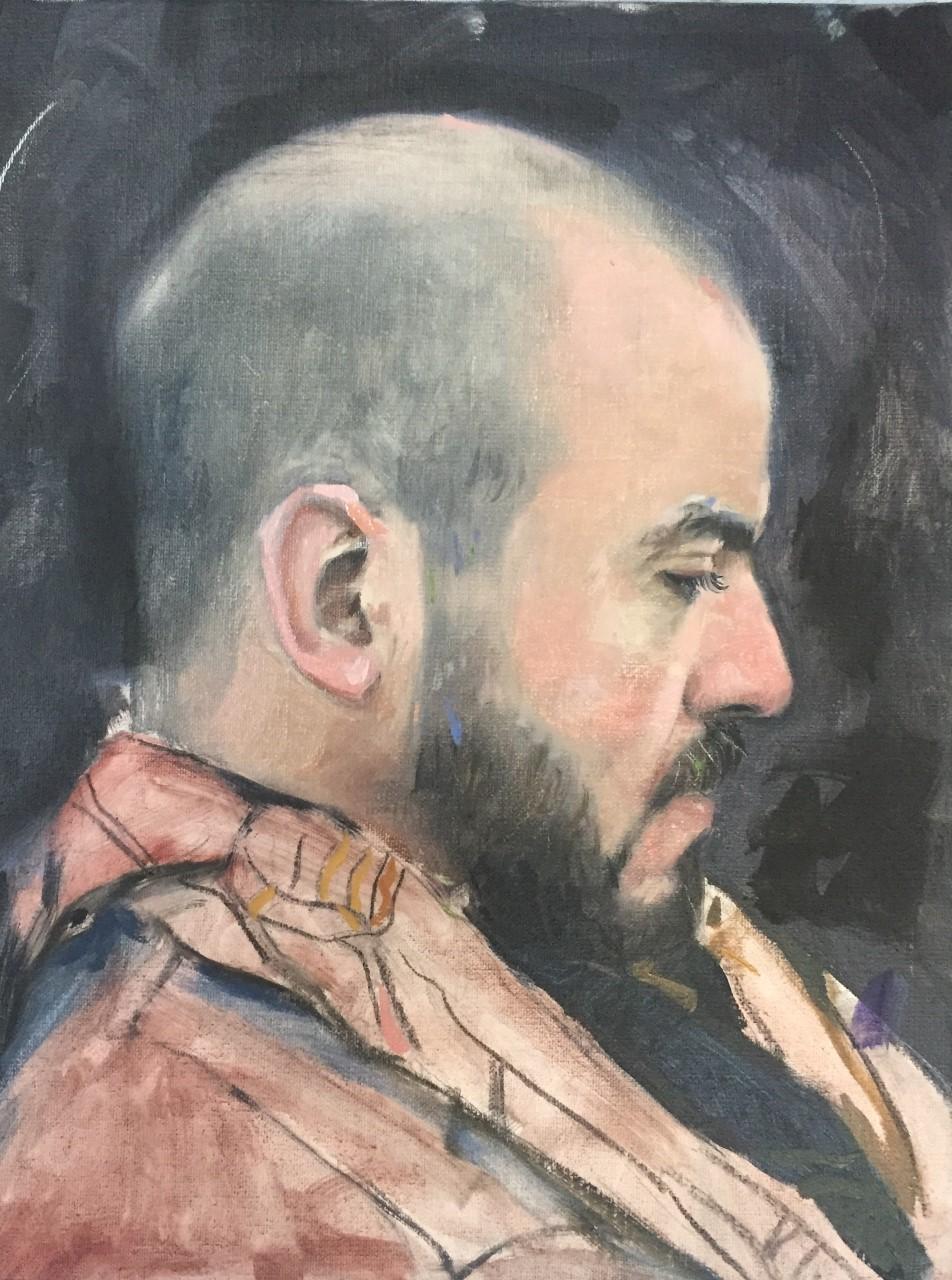 Kacem II  Huile sur toile 35 x 27 cm 2018