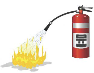 Fire-retardant chemical fire extinguisher