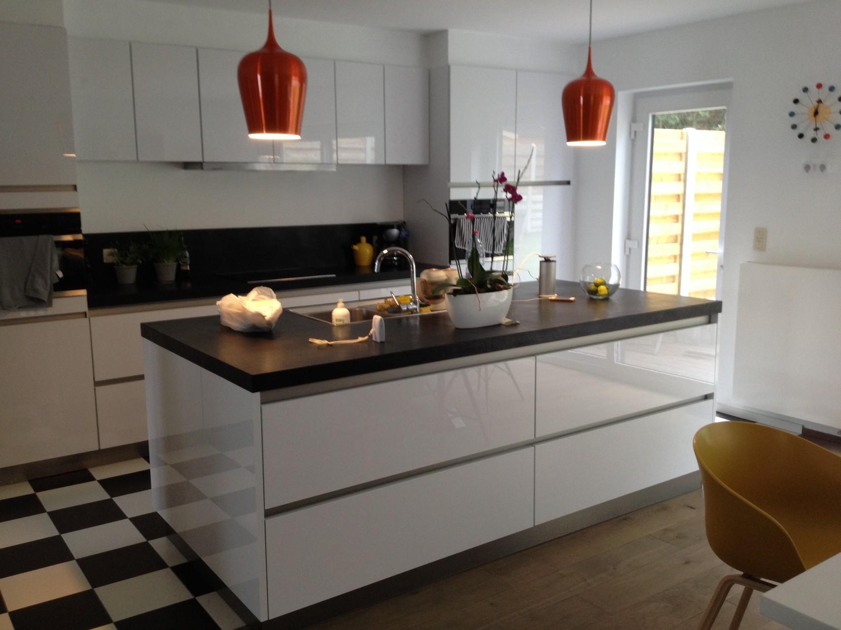 greeploze keuken met hoogglans fronten