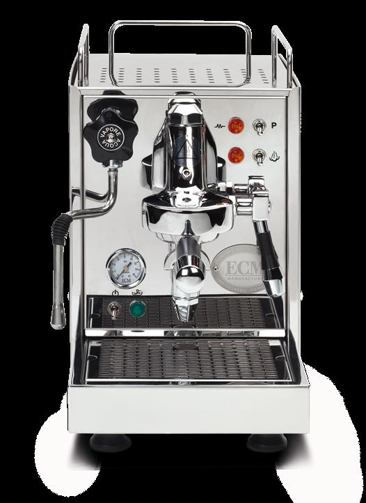 Espressomaschine ECM Classika II arbeitet mit dem bewährten klassischen Einkreislauf-System