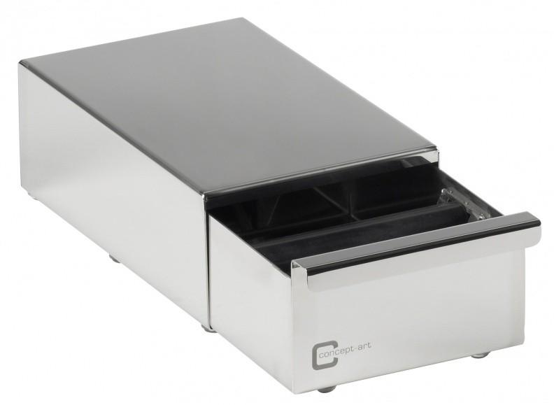 Bezzera Abschlagbox aus Edelstahl 30cm mit Schublade