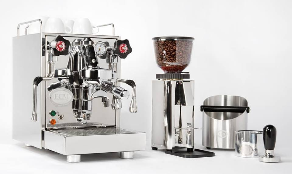 ECM Mechanika V Slim mit ECM C-Manuale 54 Kaffeemühle