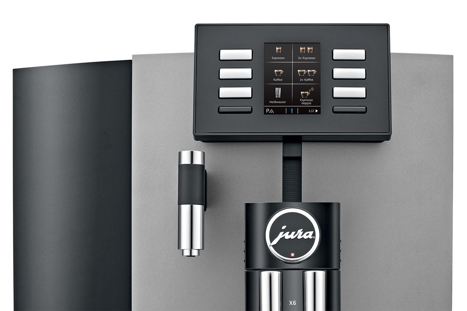 Jura X6 Dark Inox mit TFT-Farbdisplay