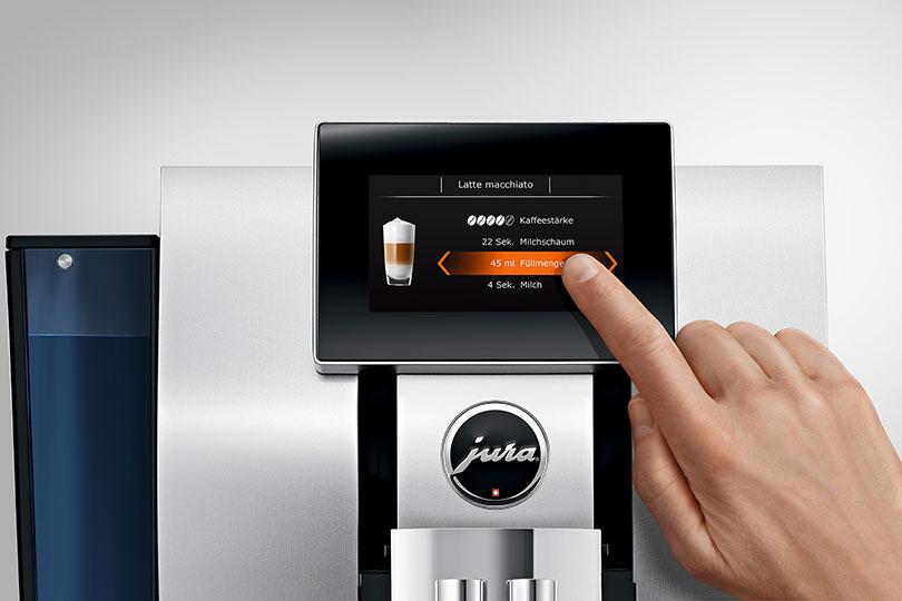 "Jura Z8 Aluminium 4,3""-Touchscreen-Farbdisplay"