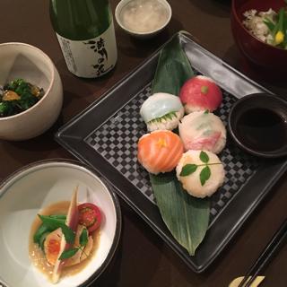 手まり寿司と京料理体験