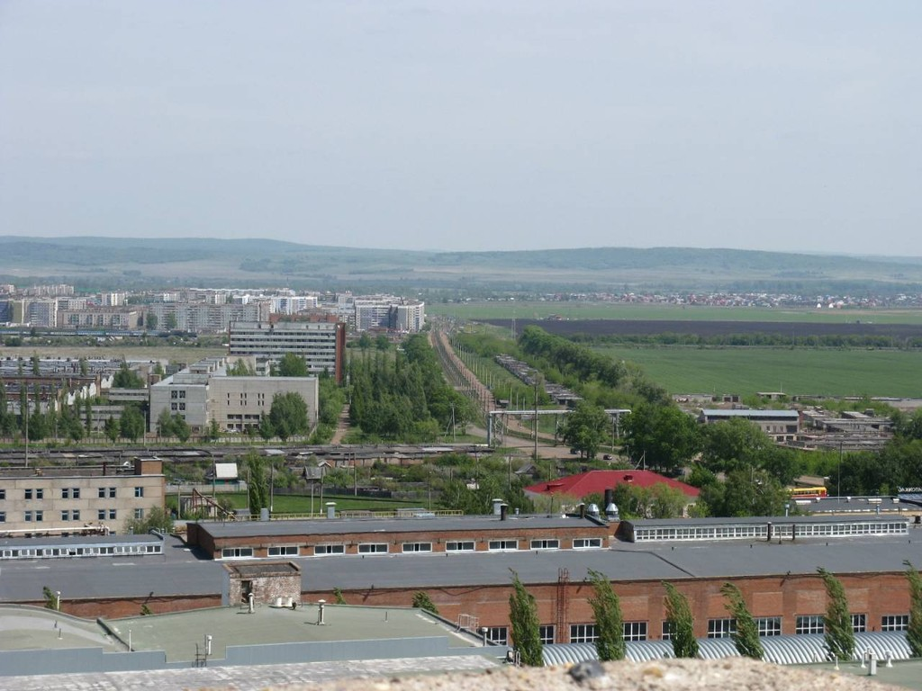 Вид на Салават со стороны Стекольного завода