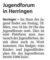 21.03.19 - Jugendforum in Herringen