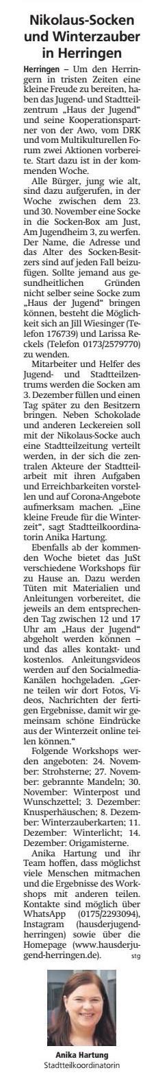 WA 2020.11.20 - Nikolaus Socken im Winterzauber in Herringen