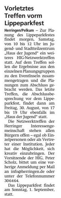 WA 05.07.19 - Vorletztes Treffen vorm Lippeparkfest