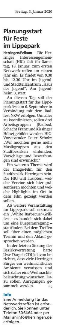 WA 03.01.2020 - Planungsstart für Feste im Lippepark