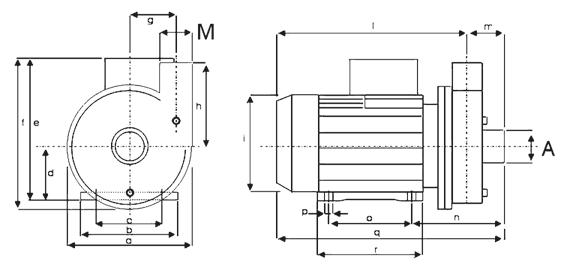 Dimensioni pompe soffianti idromassaggio