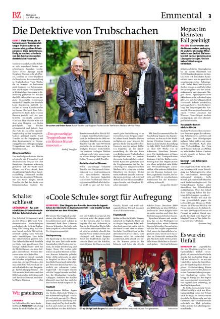 Berner Zeitung. Um zu lesen nachfolgend als PDF herunterladen.