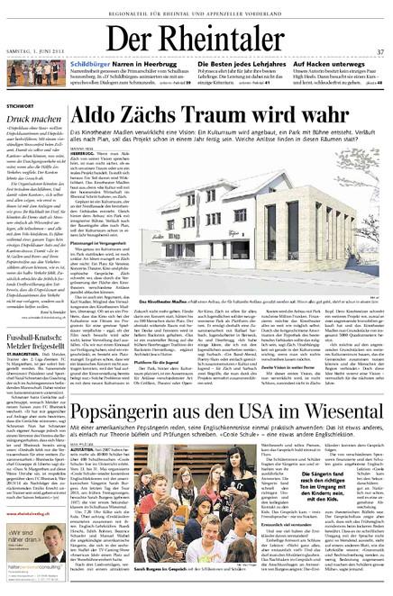 Der Rheintaler. Um zu lesen nachfolgendes PDF herunterladen.