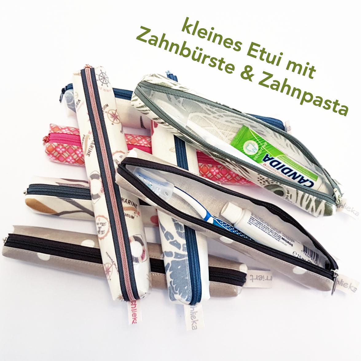 Etui klein mit Zahnbürsteli & Zahnpasta, Fr. 23.-