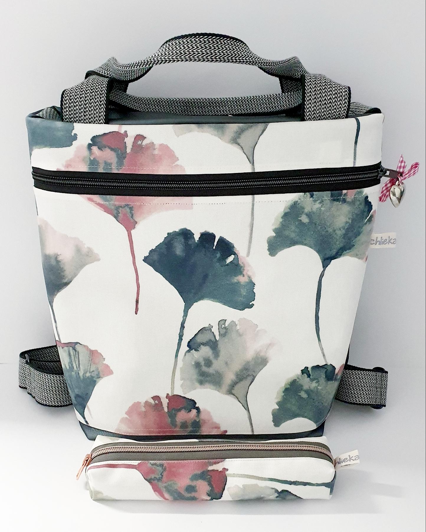 2in1 Bag Kunstleder kombiniert mit Wachstuch