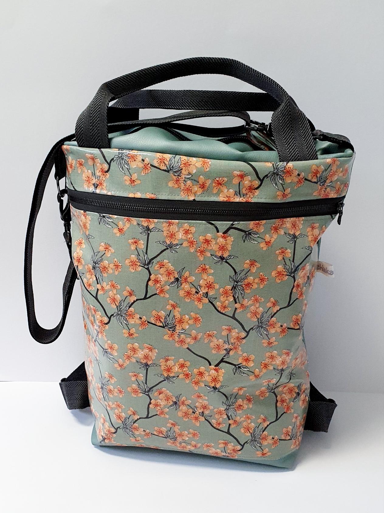 3in1 Bag L Kunstleder kombiniert mit Wachstuch, verkauft