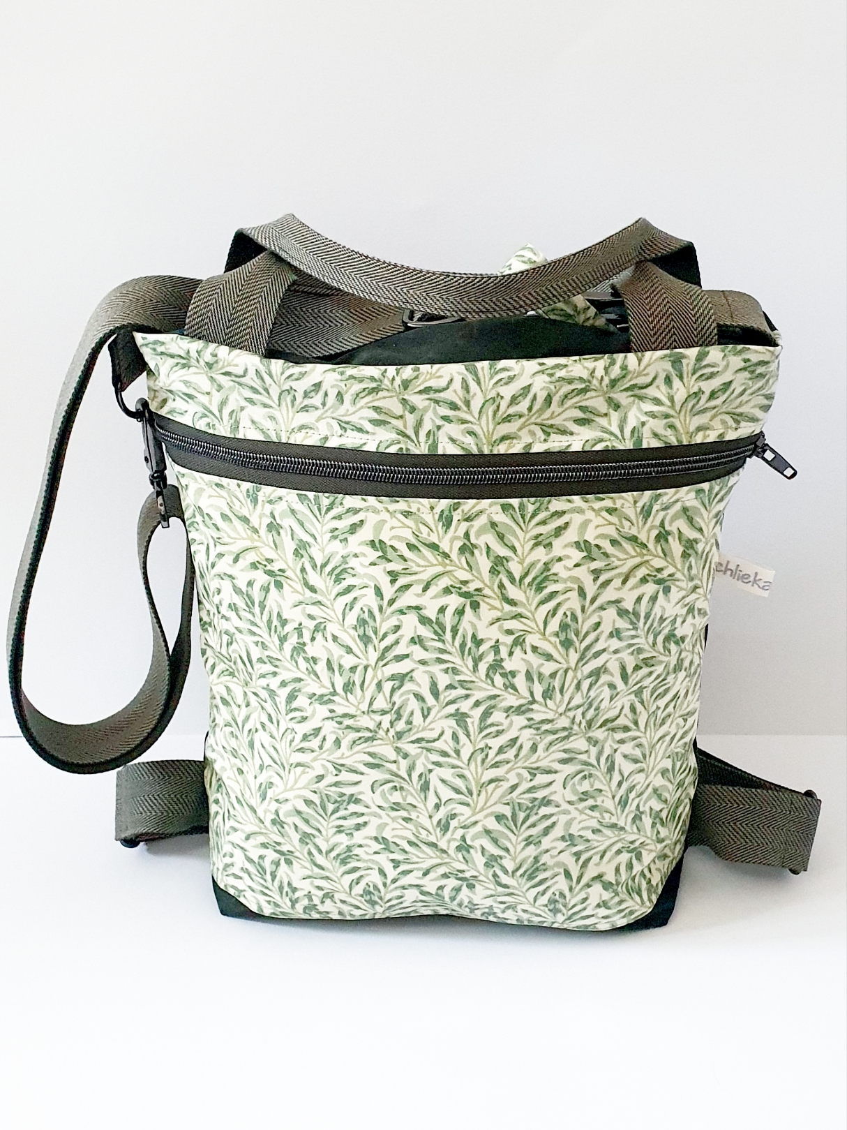 3in1 Bag M, Oilskin kombiniert mit Wachstuch, verkauft