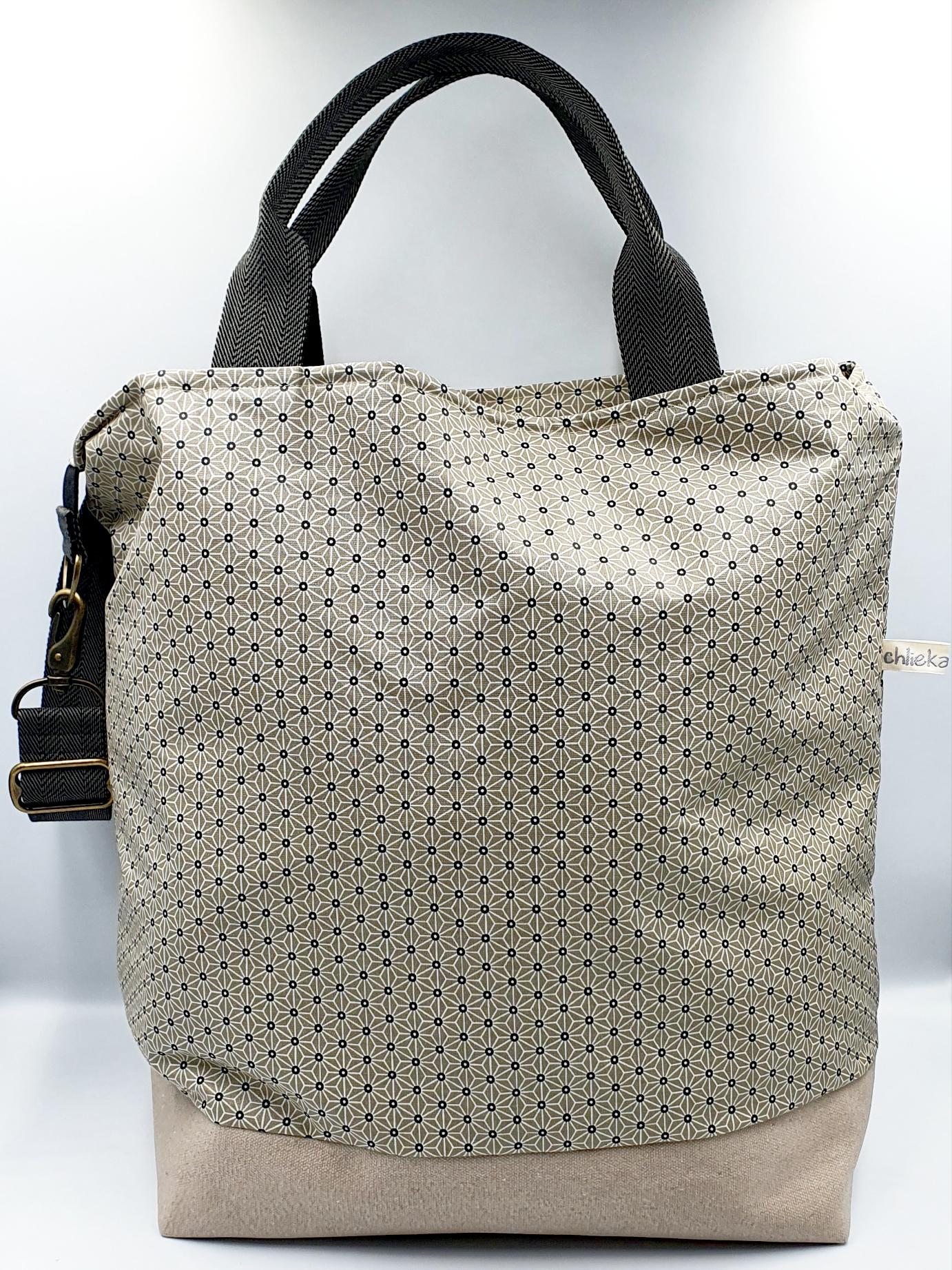 Shopper / Einkaufstasche Sternblume beige, Fr. 110.-