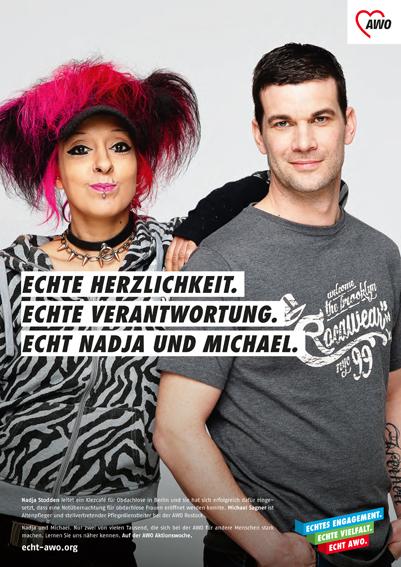 >AWO Testemoinal-Kampagne< AD Maxi Staiger, artcore | hair & makeup, Nathalie Gros | www.echt-wo.org | Klaus Lange photography | Klaus Lange