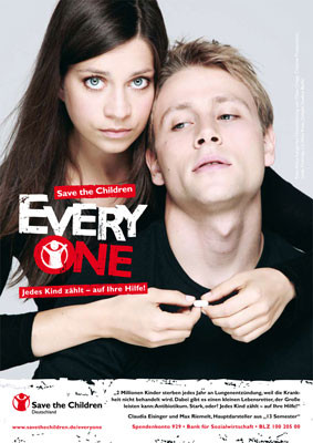 Claudia Eisinger | Max Riemelt for Save the Children by Klaus Lange