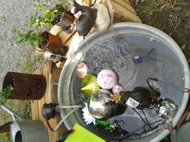 Springbrunnen Frosch etc ab 29.90€ mit Pumpe
