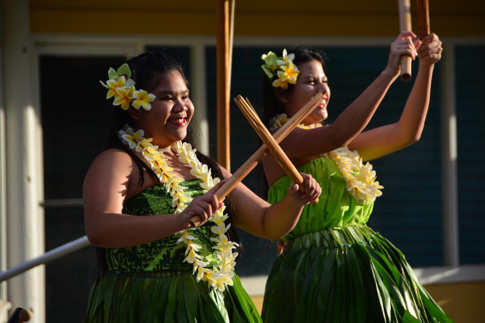 Hula show in Kapaa