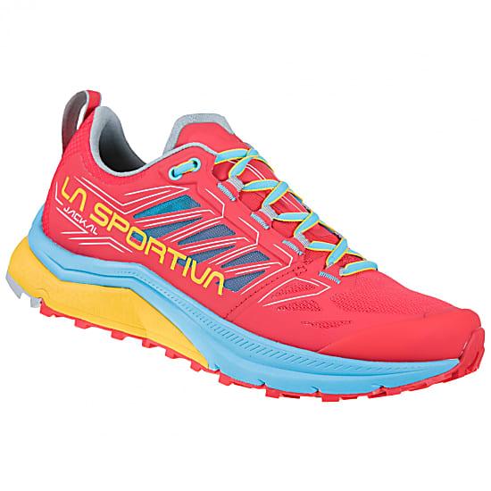 La Sportiva Jackal Woman, Hibiscus/Malibu Blue, Trail Running Damenschuh, 159,95
