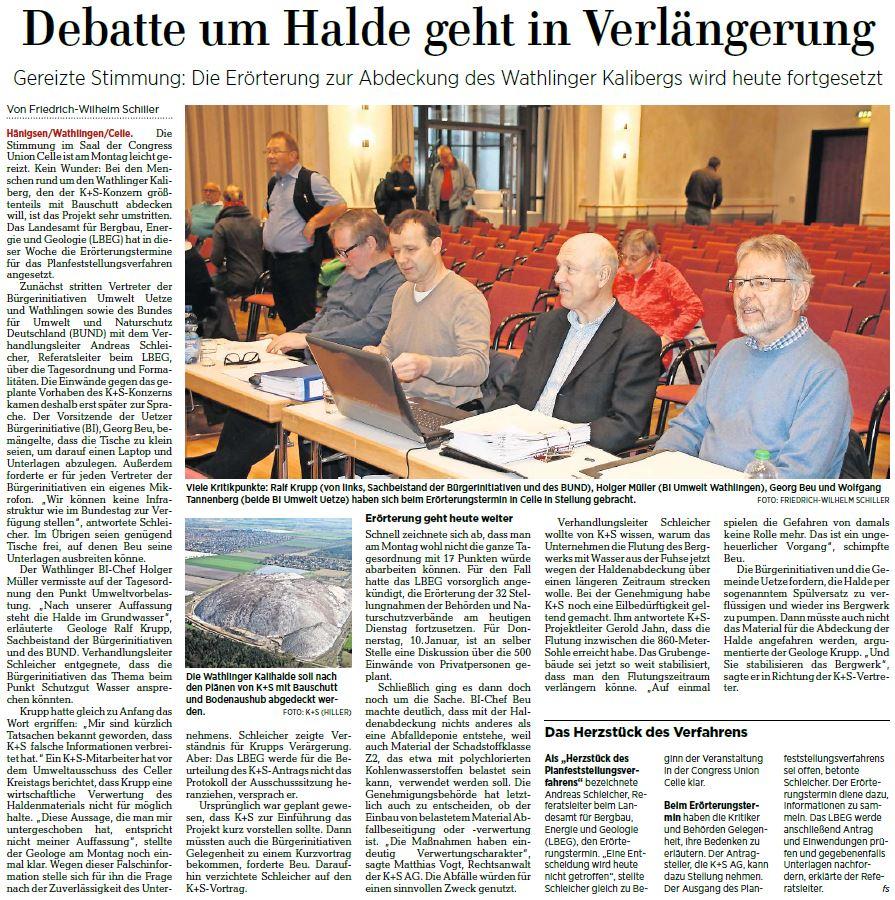 Quelle: Hannoversche Allgemeine Zeitung, 08.01.2019