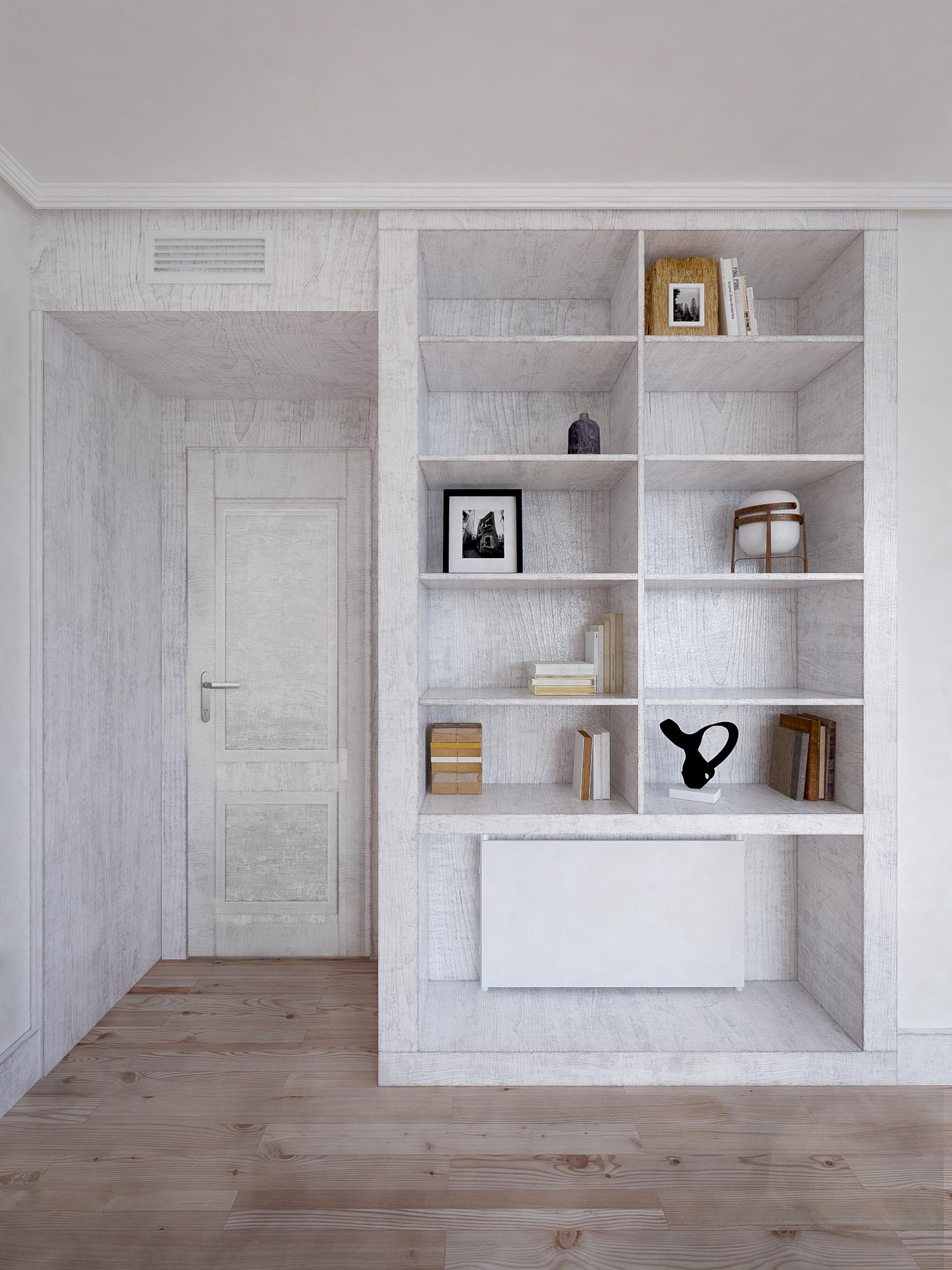 Mobiliario 3D para vivienda en Madrid. Freeland Innovation Center