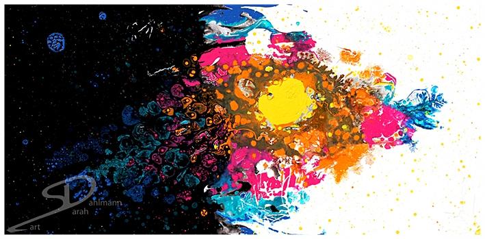 Sarah Esslinger-Dahlmann, Der Raum zwischen Licht und Dunkelheit (the space between light and darkness), 2013, 100 x 50 cm (39 x 19,7 in), Mischtechnik auf Leinwand (mixed technique on canvas)