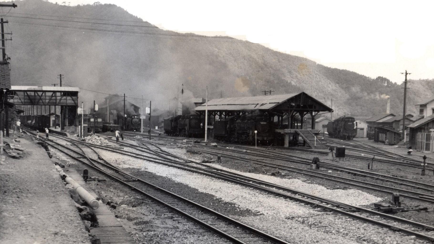 昭和37年当時の今庄駅