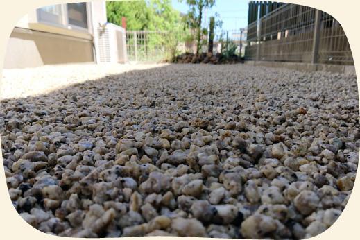 造成工事実績:三重県産の砂利を敷いた涼しげなお庭【門西造園|浜松市】