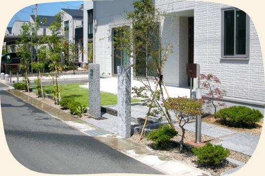 門西造園(浜松市)が造成した現代和風のお庭
